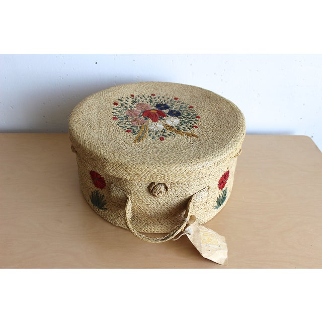 Image of 1959 Wicker Hat Box
