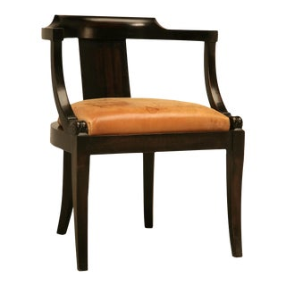 French Ebonized Mahogany Antique Desk Chair