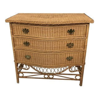 Ralph Lauren Wicker 3-Drawer Dresser