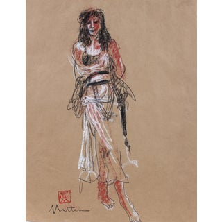 Late 20th Century Figure Drawing by Rip Matteson