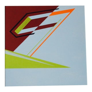 Abstract Geometric Acrylic Painting Hard Edge Style