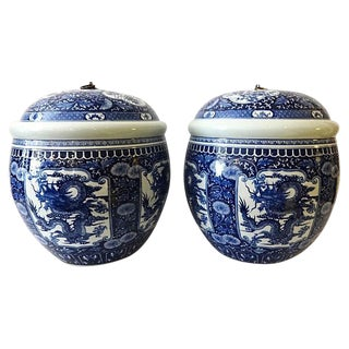 Porcelain Ginger Jars - A Pair