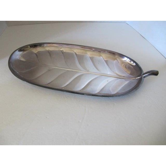 Silver-Plate Leaf Serving Platters - Set of 3 - Image 5 of 10