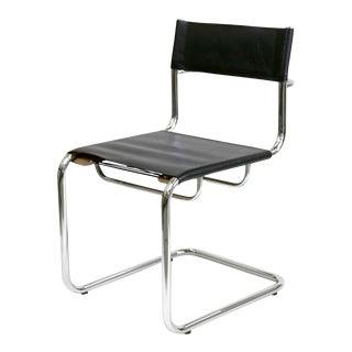 Black Leather & Chrome Frame Bauhaus Marcel Breuer Chair