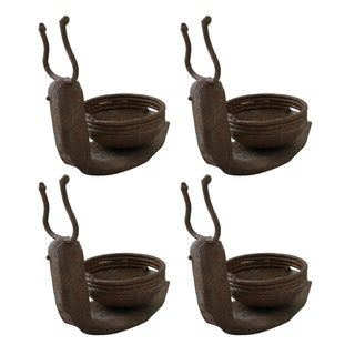Iron Snail Votive Holders