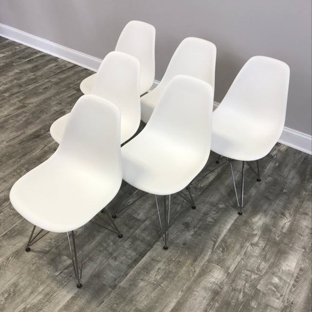 Eames Molded Dining Chairs - Set of 6 - Image 3 of 11