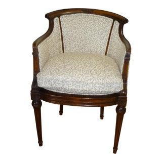 Century Petite Rococo Barrel Chair