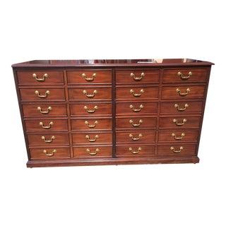 Sligh Mahogany File Cabinet