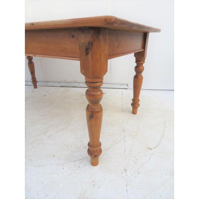 English Scrub Pine Farm Table - Image 2 of 7