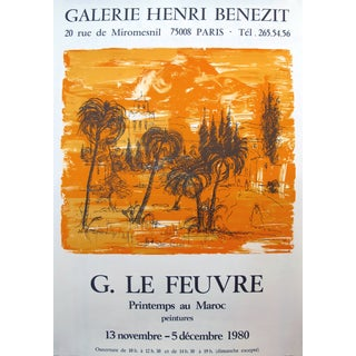 1980 Original French Exhibition Poster