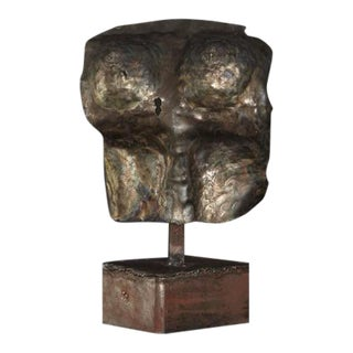 Brutalist Bronze Sculpture of a Female Torso