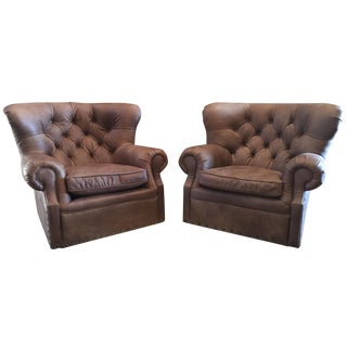 Restoration Hardware Churchill Swivel Chairs - A Pair