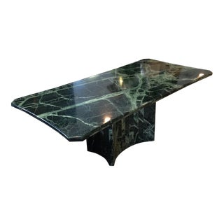 Green Marble Pedestal Dining Table