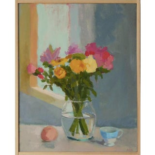 Anne Carrozza Remick Bouquet With Peach and Teacup