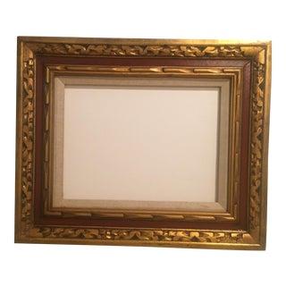 Mid-Century Gold & Sienna Frame