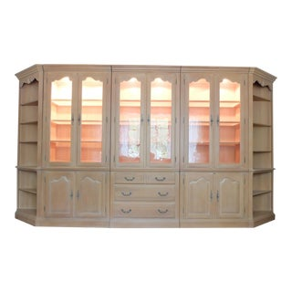 Ethan Allen Lighted Wall Unit