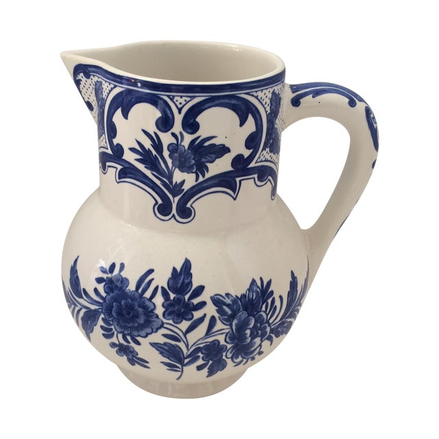 Tiffany & Co Delft Blue & White Pitcher - Image 1 of 6