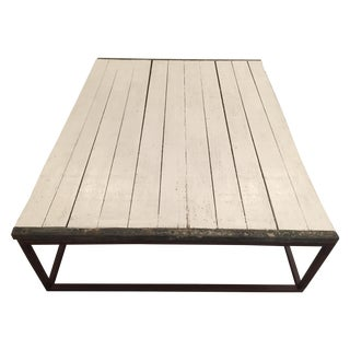 Restoration Hardware Rectangular Wood Coffee Table
