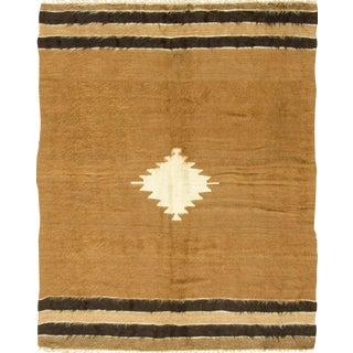 Vintage Turkish Mohair Rug - 4'2 x 5'2
