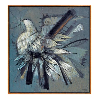 Bird in Flight Oil Painting