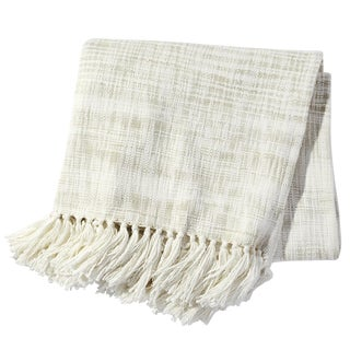 John Robshaw Cream Space-Dyed Throw