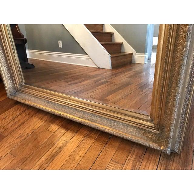 Oversized Beveled Mirror in Custom Gilt Frame - Image 6 of 9