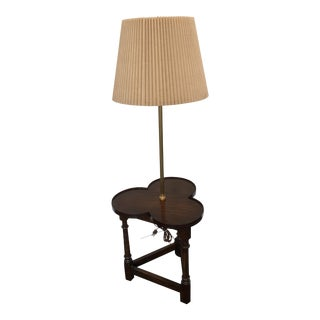 Frederick Cooper Clover Shaped Wood Floor Lamp