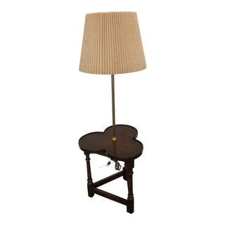 Frederick Cooper Clover Shaped Wood Brass Floor Lamp