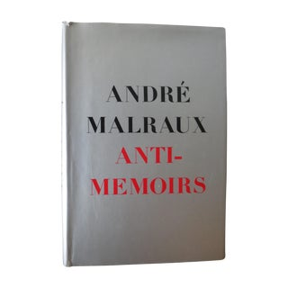 Vintage 1968 'Anti-Memoirs' by Andre Malraux Book
