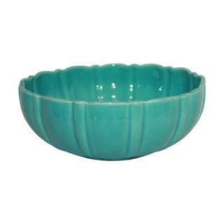 Franciscan Ceramics Turquoise Salad Bowl
