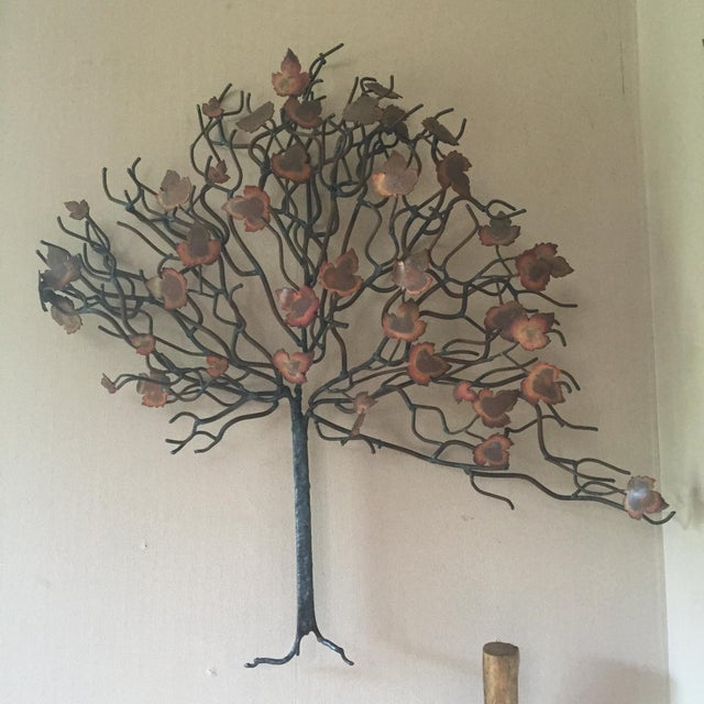 Vintage Tree Wall Sculpture in Style of Jere - Image 2 of 3