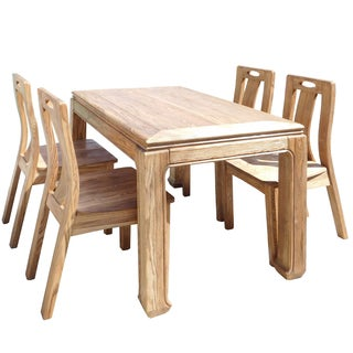 Light Wood Dining Set