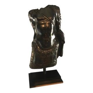 Roman Bronze Torso & Pedestal