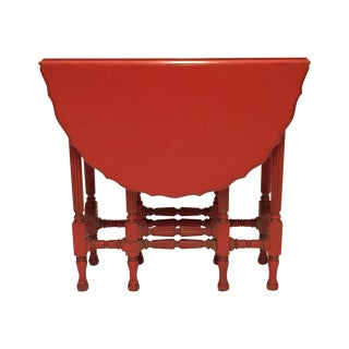 Vintage Orange Drop Leaf Table