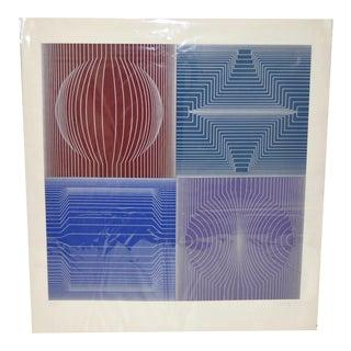 Victor Vasarely Limited Silkscreen circa 1970s