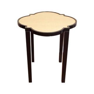 "Oomph ""Greenwich"" Side Table in Black + Raffia"