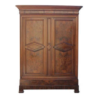 19th Century French Louis Philippe Walnut Armoire Period Chateau Circa 1850s