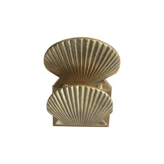 Vintage Brass Shell Letter Holder