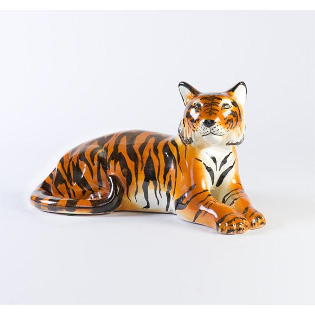 Italian Ceramic Tiger - Image 2 of 6
