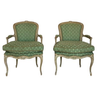 Early 19th C. French Armchairs - A Pair