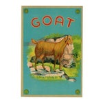Image of Vintage Goat Fabric Label Archival Print