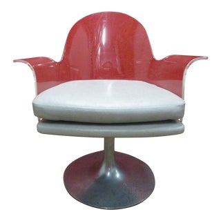 Vintage Lucite Armchair with Tulip Style Base