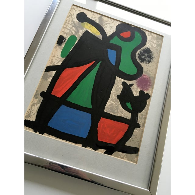 Original miro lithograph from derriere le miroir chairish for Miro derriere le miroir
