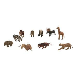 Wild Animal Papier Mache Menagerie- Set of 10