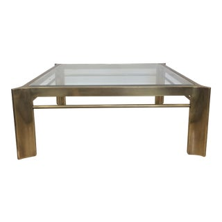 Mastercraft Triboli Brass & Glass Coffee Table
