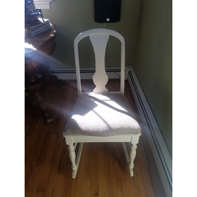 Hand Painted and Upholstered Rocking Chair - Image 2 of 5