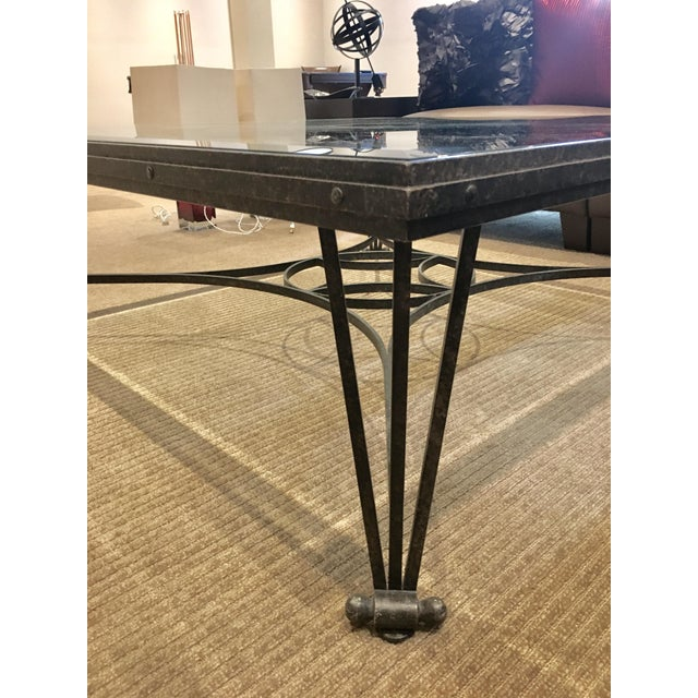 Glass And Metal Coffee Table With Shelf: Iron Cocktail Table With Glass Shelf