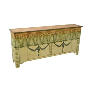 Habersham Plantation Hand Painted French Style Sideboard Buffet Cabinet