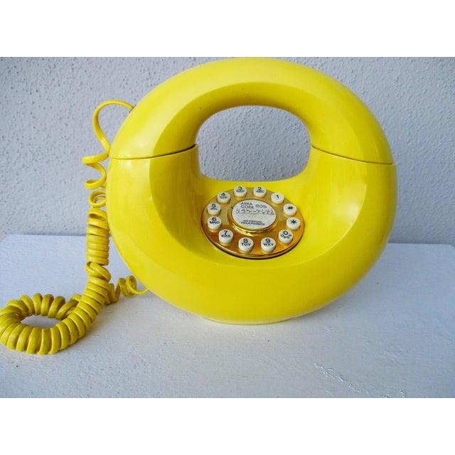 Bright Yellow Sculptura Donut Telephone Phone - Image 6 of 11