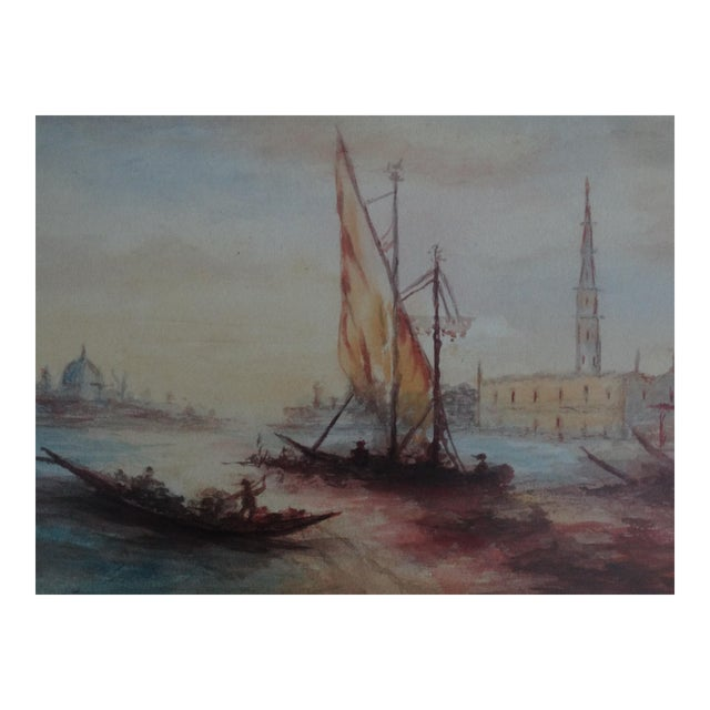 Impressionism Seascape Painting, the Grand Canal, Venice - Image 1 of 6